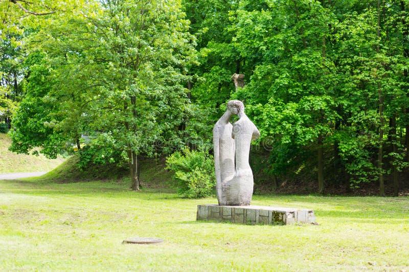 雕象公园 库存图片