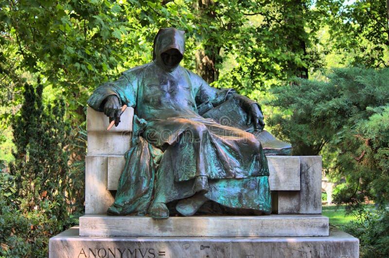 雕象匿名在布达佩斯 库存照片