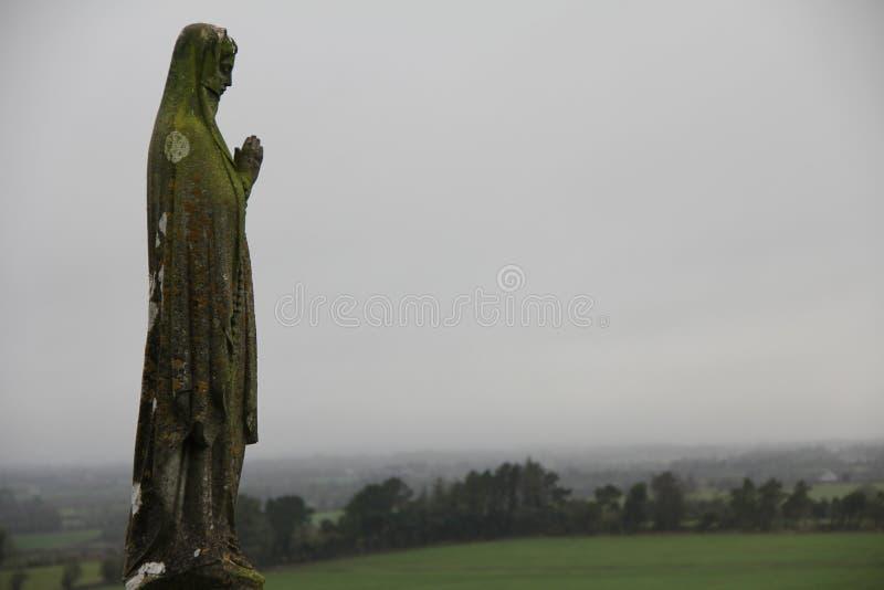 雕象和风景 库存图片