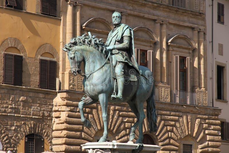 雕象在佛罗伦萨 免版税库存照片