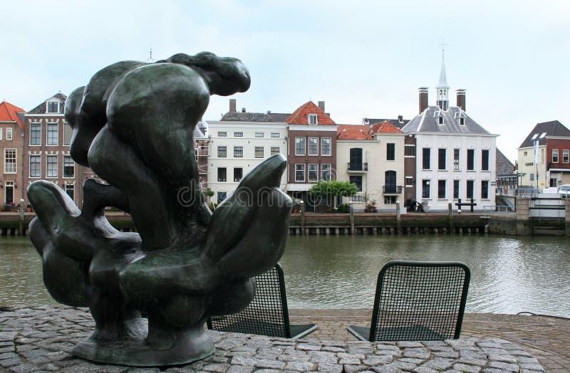 雕象在市的港口马斯劳斯 库存图片