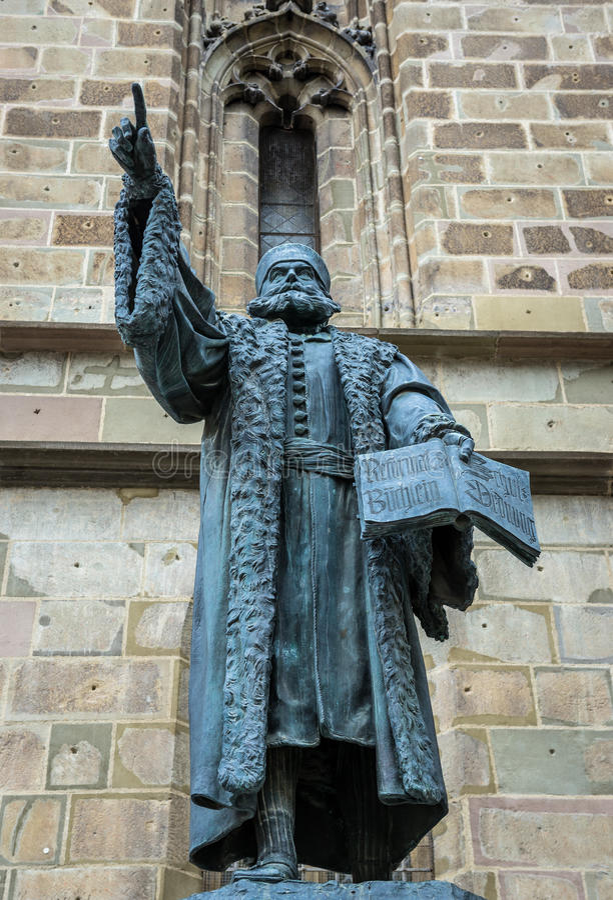 雕象在布拉索夫 库存照片