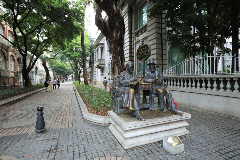 雕象在广州2 -广东-中国沙面岛  免版税库存图片