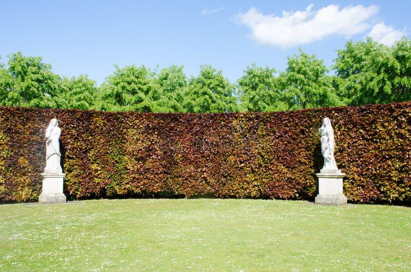 雕象在英国国家庭院里 库存照片