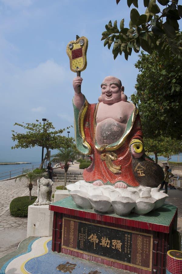 雕象在香港 免版税库存图片