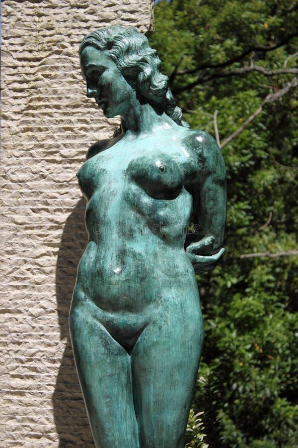 雕象妇女 免版税图库摄影