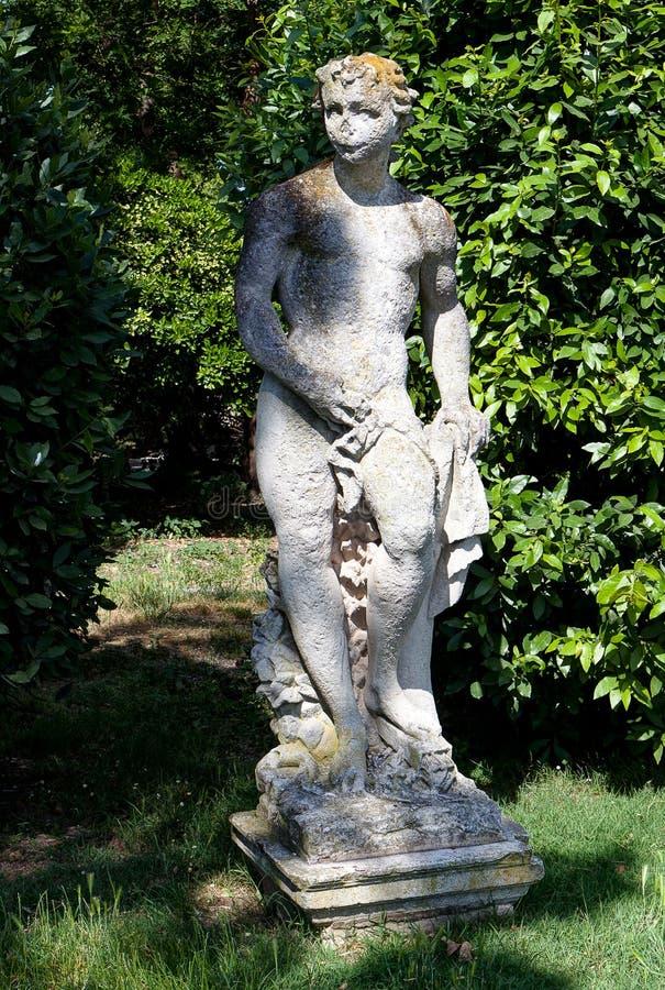 雕象年轻人,加尔迪尼,帝堡城,威尼斯,意大利,威尼斯湾,意大利 免版税库存照片