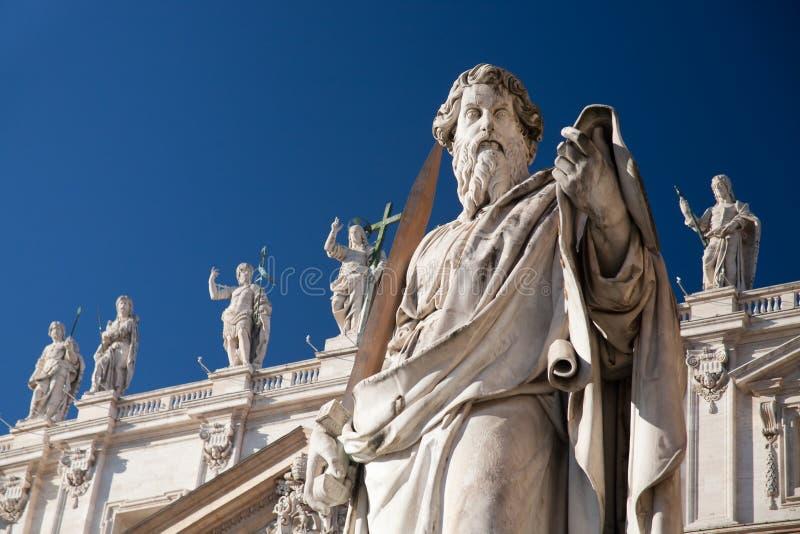 雕象梵蒂冈 免版税库存照片