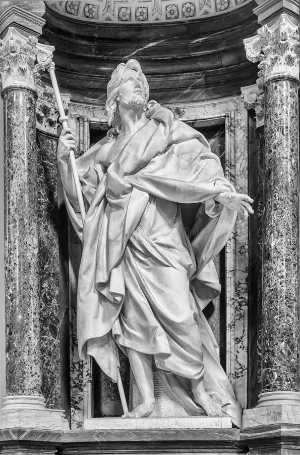 雕象的圣詹姆斯-罗马 免版税图库摄影