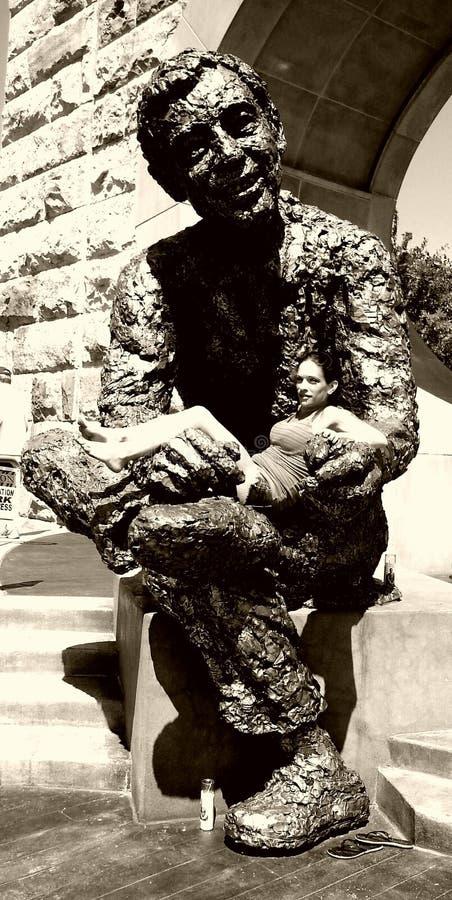 雕象的女孩 库存图片