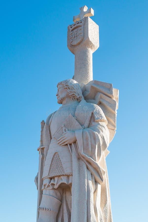 雕象胡安罗德里格斯Cabrillo上尉的阿尔瓦斯de Bree 库存照片