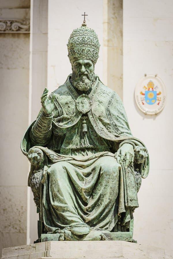雕象西斯都五世 免版税库存图片