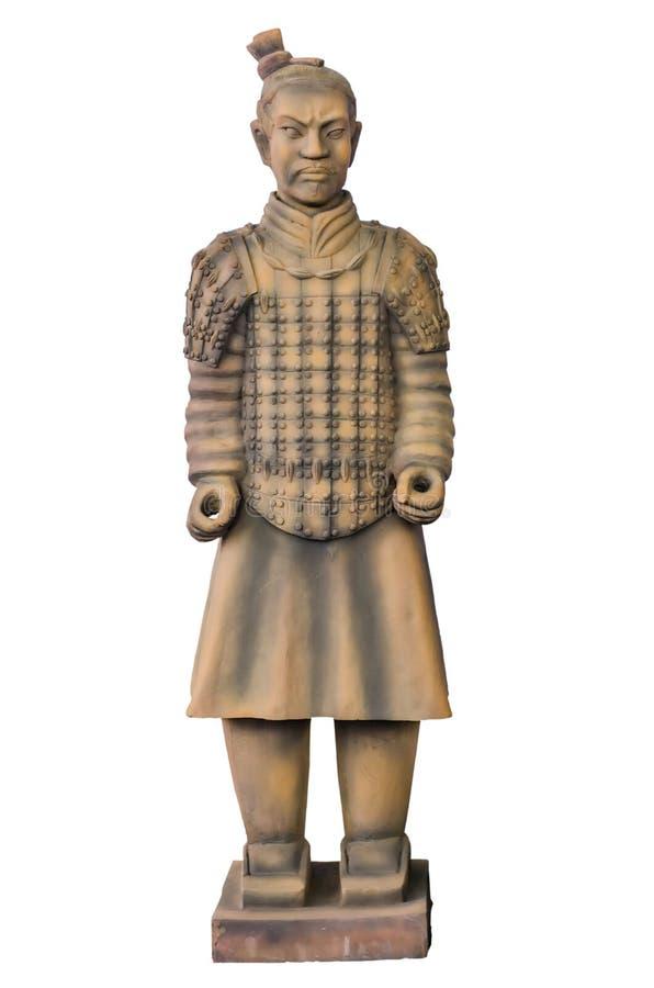 雕象赤土陶器战士 图库摄影