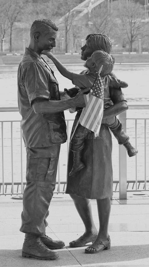 雕象-匹兹堡,宾夕法尼亚 免版税库存照片