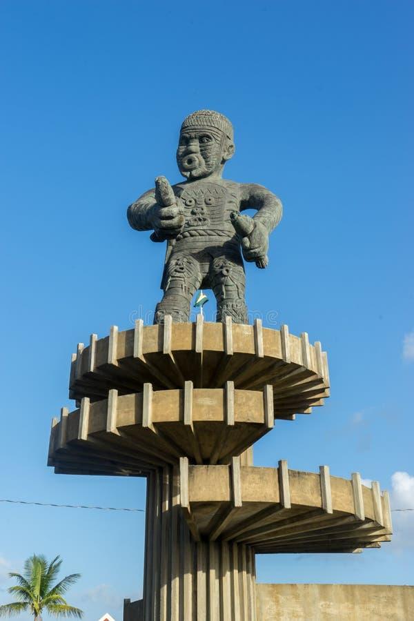 雕象-在乔治城,圭亚那附近的看法 库存图片