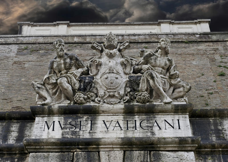 雕象aboe从梵蒂冈博物馆的出口 免版税库存图片