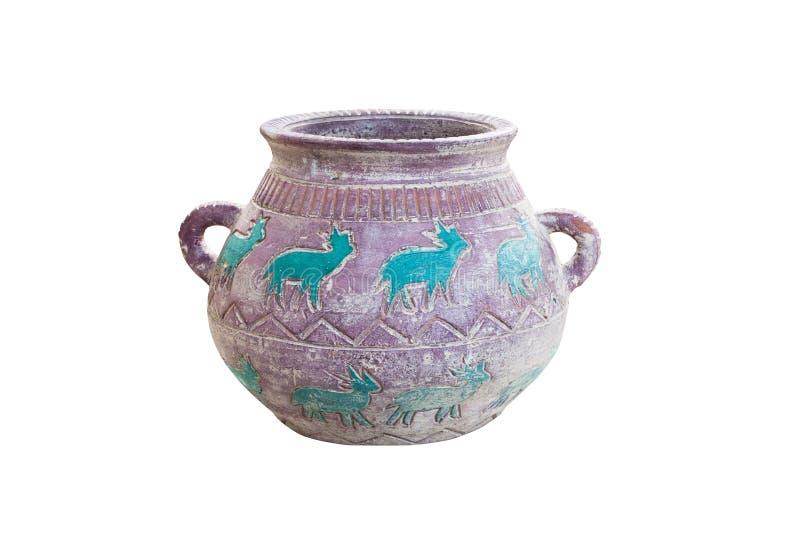雕刻古老花瓶 免版税库存图片