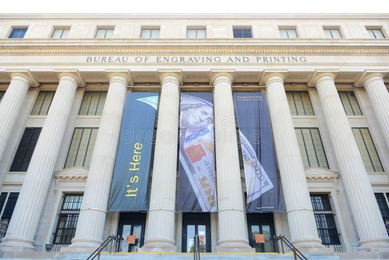 雕刻和印刷局,华盛顿特区,美国 免版税库存照片