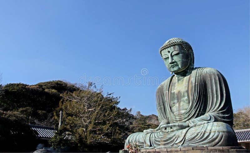 雕刻在镰仓的菩萨 免版税图库摄影