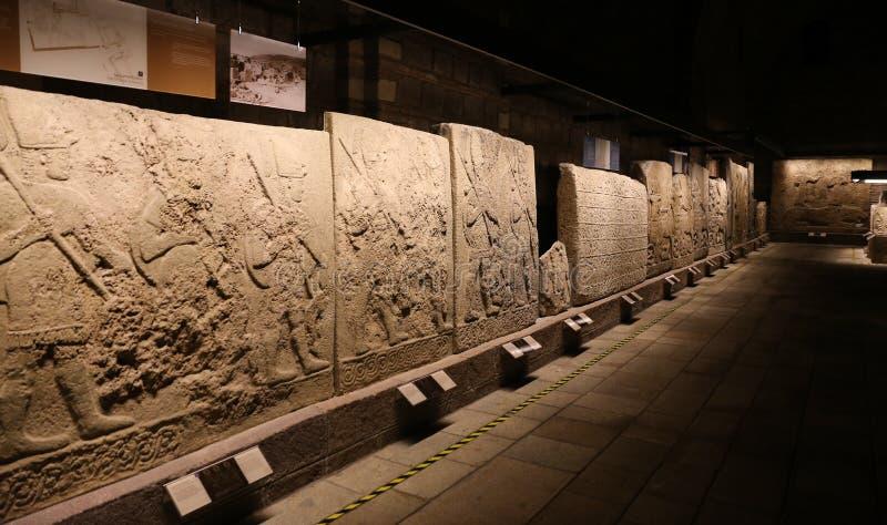 雕刻在阿纳托利安文明博物馆,安卡拉 免版税库存照片