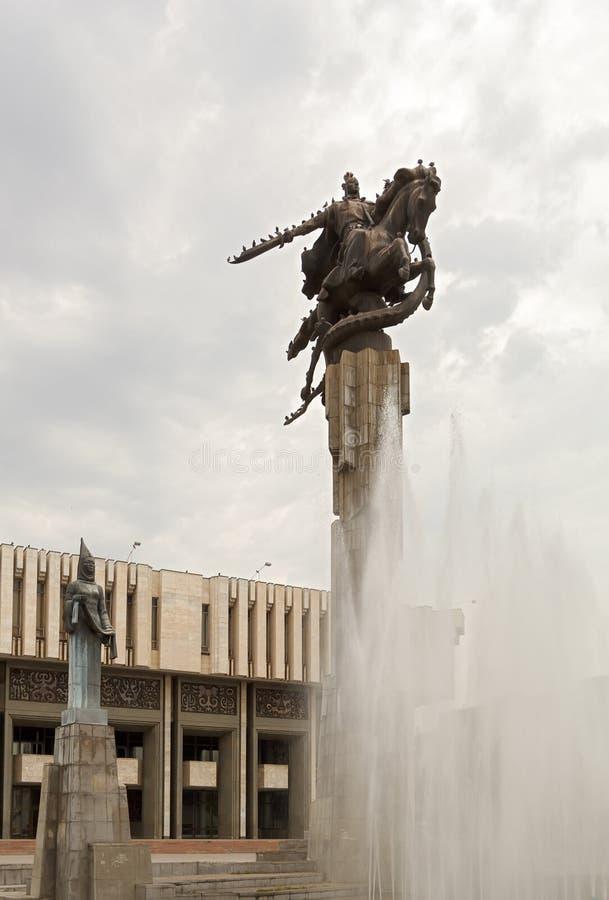 雕刻的复杂玛纳斯。比什凯克,吉尔吉斯斯坦 库存照片