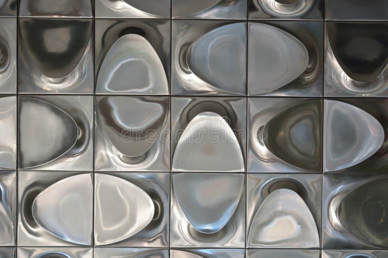 雕刻的方形的金属 库存照片