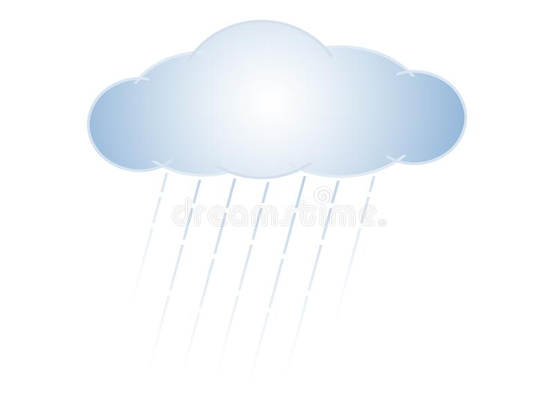 雨云 向量例证