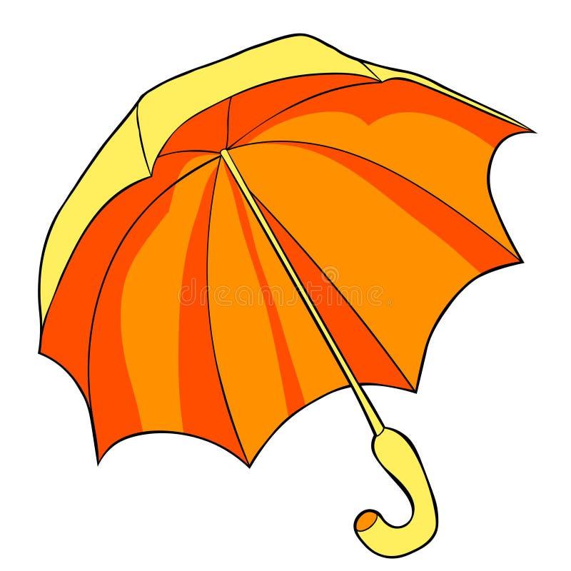雨伞侧视图  也corel凹道例证向量 向量例证