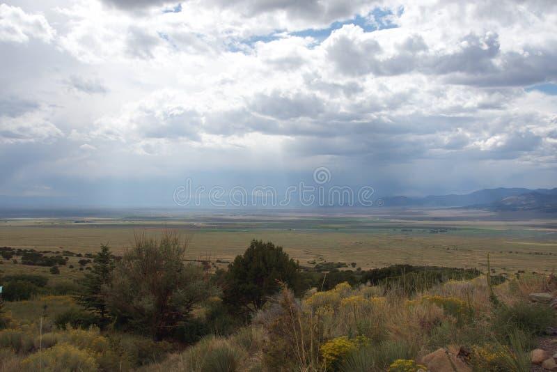 雨在高沙漠 免版税图库摄影