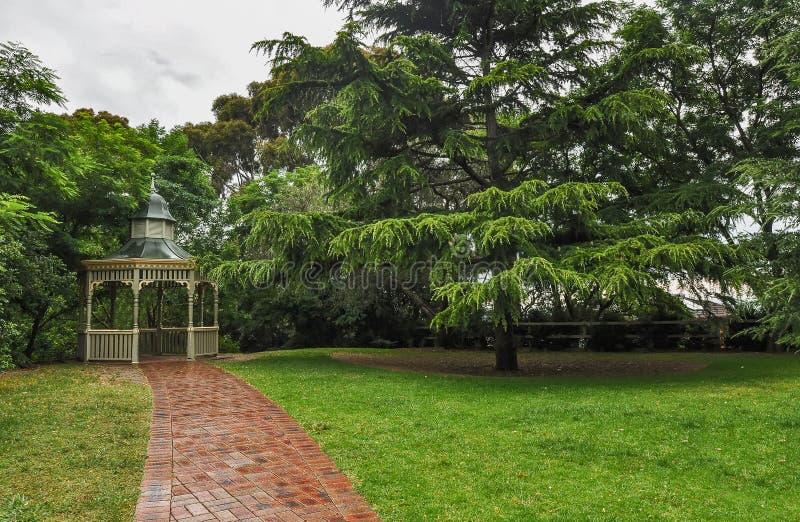 雨天在公园威尔逊 澳洲 库存照片