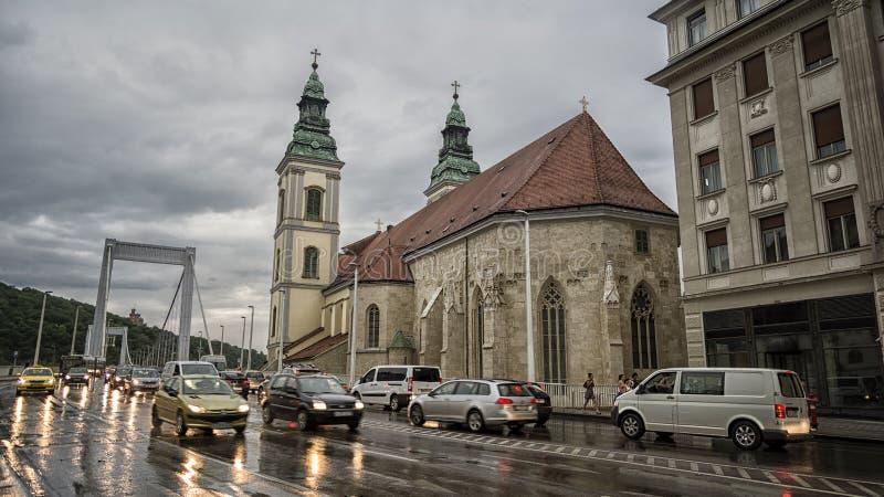 雨天在布达佩斯,匈牙利 免版税库存照片