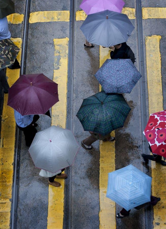 雨天在香港 免版税库存照片