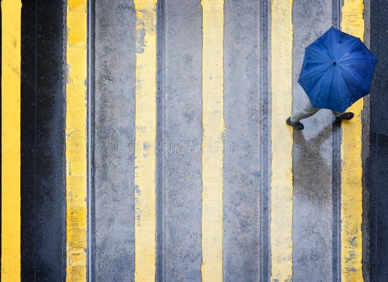 雨天在香港 免版税库存图片