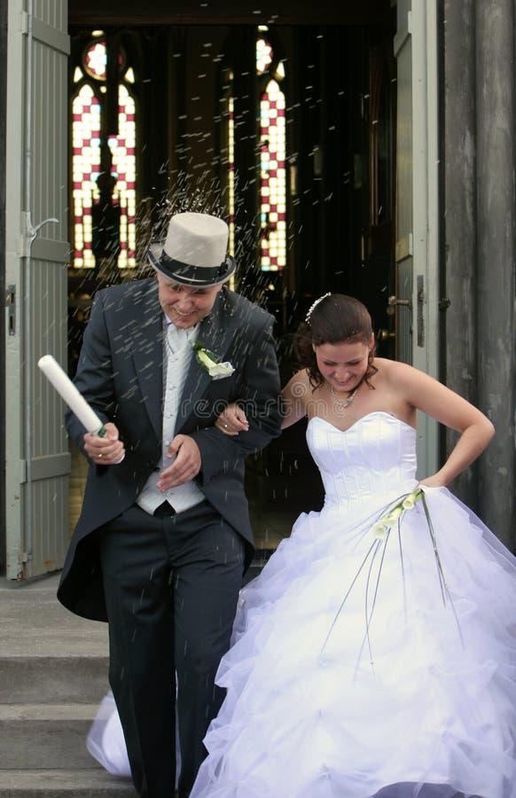 雨婚礼 库存图片