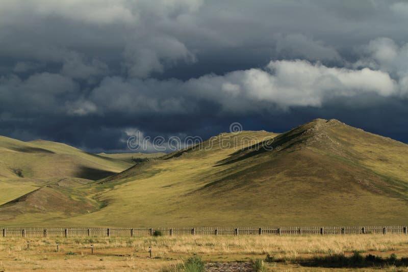 雨季蒙古的Orkhon谷 库存图片