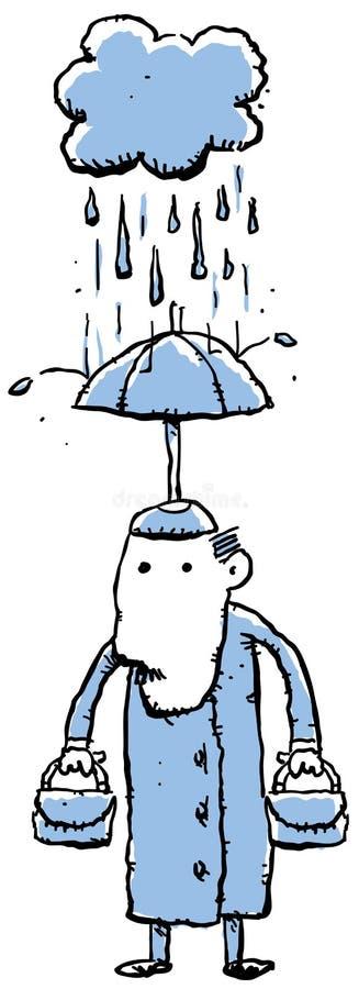 雨帽子 向量例证