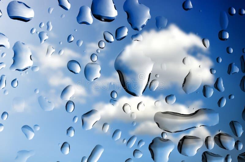 雨水滴  免版税库存照片
