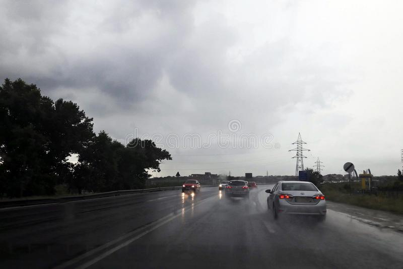 雨滔滔业务量 库存照片