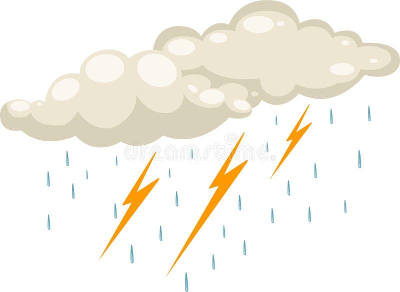 雨珠向量 库存例证