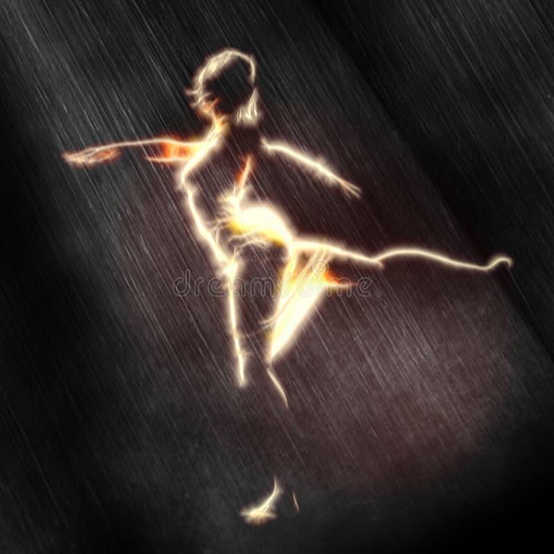 雨舞蹈家 向量例证