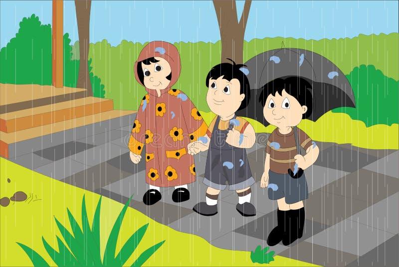 雨 向量例证