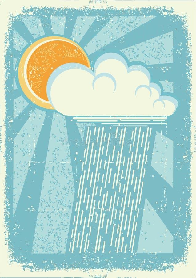 雨 库存例证