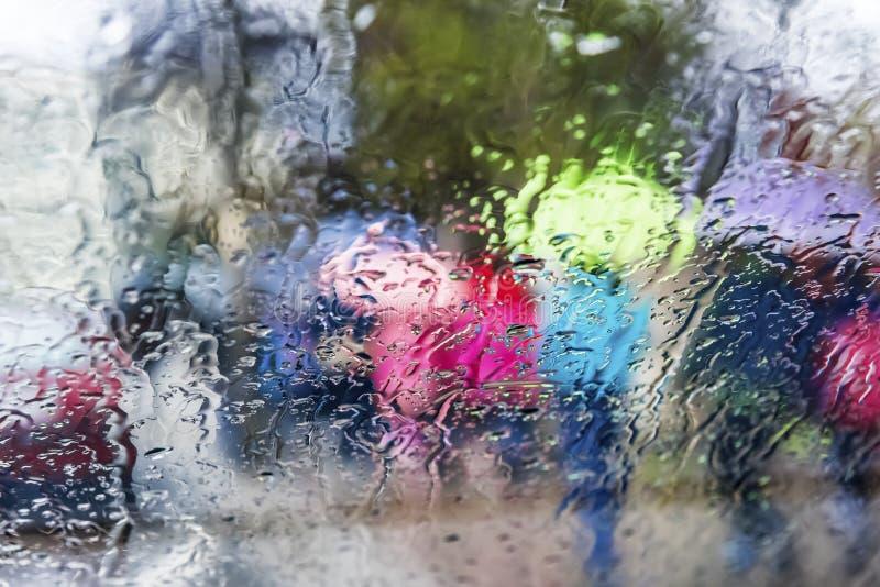 绘画雨 免版税库存照片