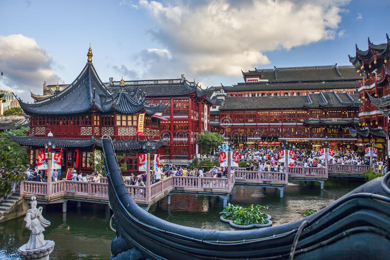 雩山庭院在上海 库存图片