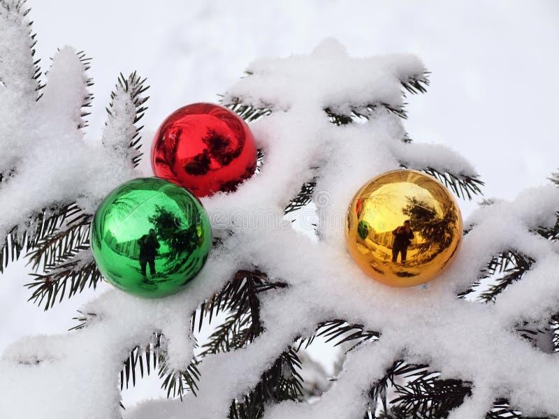 雪三玩具结构树 免版税库存图片