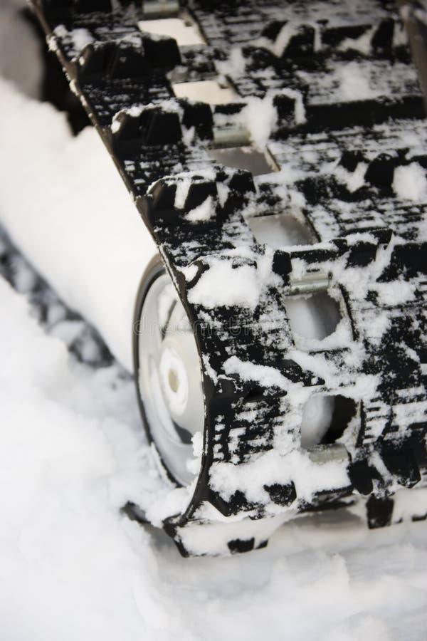 雪上电车跟踪 库存图片