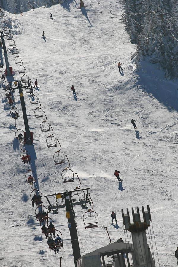 滑雪中心 库存图片