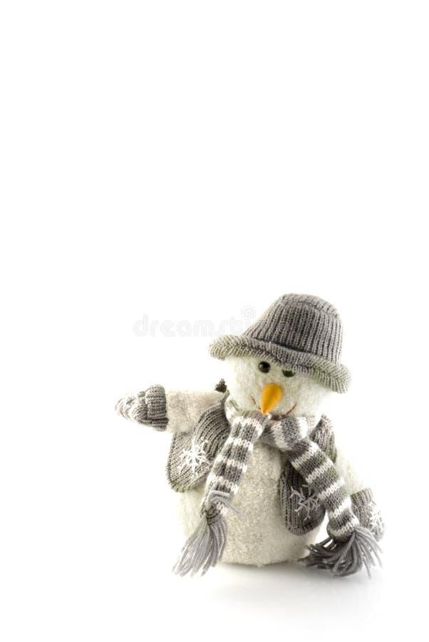 雪人冬天 免版税库存图片