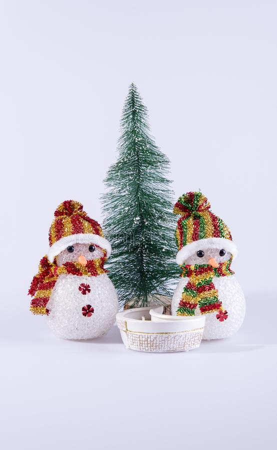 雪人玩具背景 库存图片