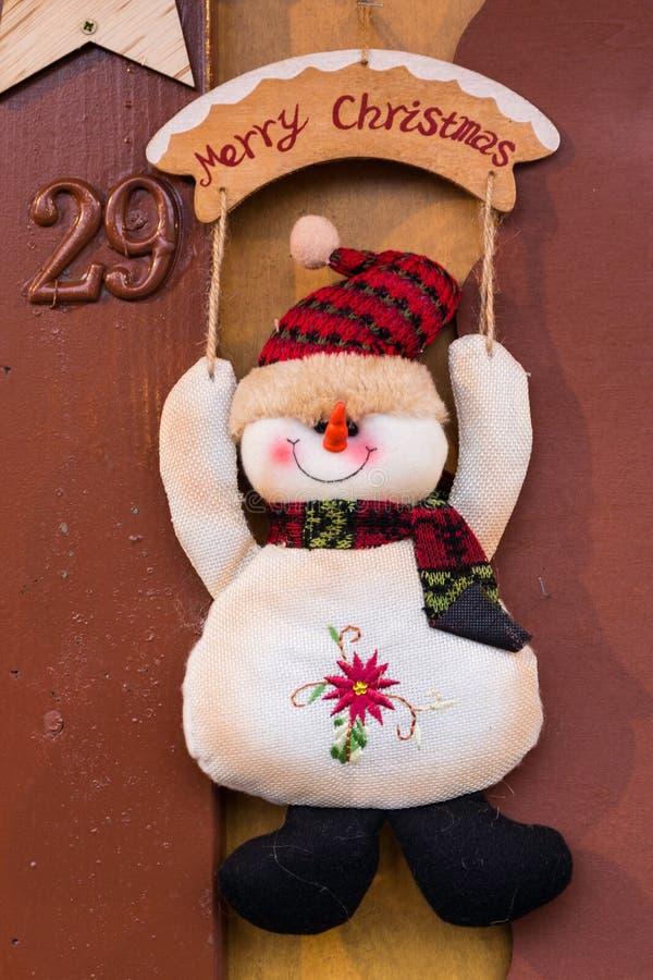 雪人装饰品 免版税图库摄影